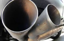 The exhaust pipes of a VW Diesel car are photographed in Frankfurt, Germany, Wednesday, Aug. 2, 2017. German auto bosses, ministers and state governors are considering how to reduce diesel emissions as drivers face the threat of possible bans on driving older diesel cars in some cities. A meeting Wednesday at the Transport Ministry is to bring together leading politicians with bosses from Volkswagen, Porsche, Audi, Mercedes, BMW, Opel and Ford. (ANSA/AP Photo/Michael Probst) [CopyrightNotice: Copyright 2017 The Associated Press. All rights reserved.]