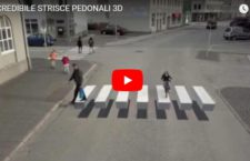 Strisce pedonali in 3D, l'efficace tecnica per far rallentare gli automobilisti (VIDEO)