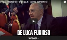 "De Luca al reporter di Fanpage.it: ""Vai via camorrista"" [VIDEO]"